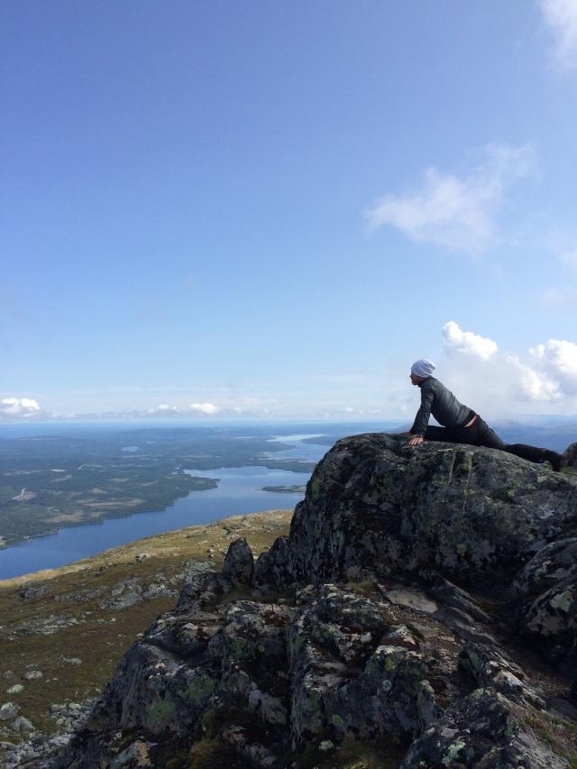 Toppen av Ottfjället under vandringen i torsdags